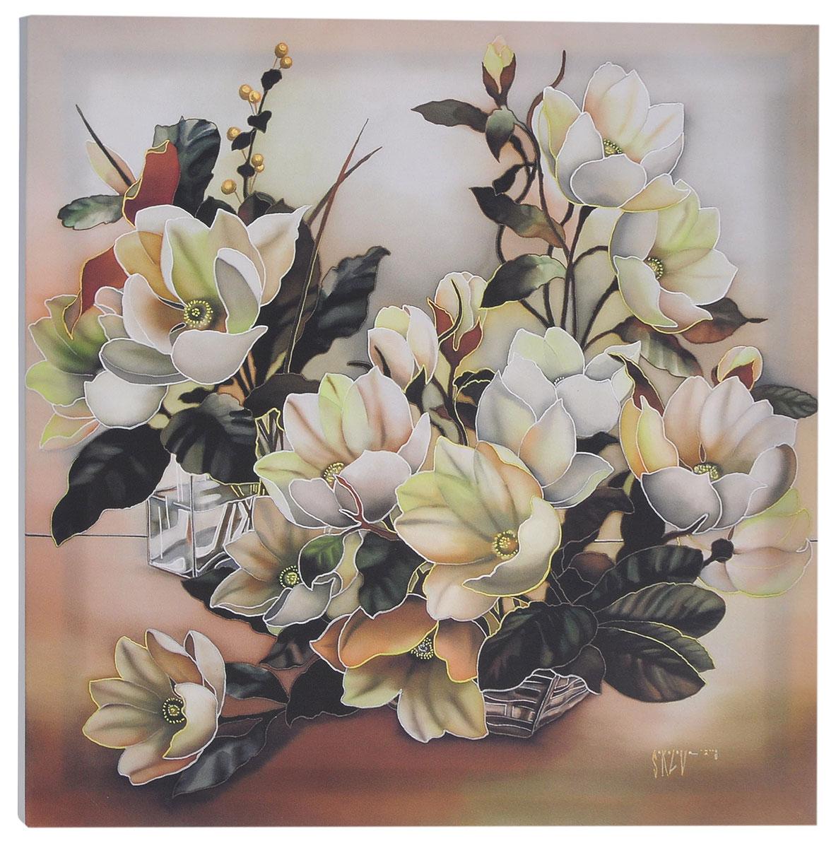 КвикДекор Картина детская МагнолииAP-00826-00042-Cn5050Картина КвикДекор Магнолии - это прекрасное украшение для вашей гостиной, детской или спальни. Она привнесет в интерьер яркий акцент и сделает обстановку комфортной и уютной. Автор картины - Надежда Соколова - родилась в 1973 году в городе Дрездене. В 1986-1990 годах училась в Художественной школе города Новгорода. В 1995 году окончила с отличием рекламное отделение Новгородского училища культуры. В 2000 году защитила диплом на факультете Искусств и Технологий НовГУ имени Ярослава Мудрого. Выставляется с 1996 года. Работает в техниках: живопись, графика, батик, лаковая миниатюра, авторская кукла. Является автором оригинального стиля в миниатюре. Изделие представляет собой картину с латексной печатью на натуральном хлопчатобумажном холсте. Галерейная натяжка на деревянный подрамник выполнена очень аккуратно, а боковые части картины запечатаны тоновой заливкой. Обратная сторона подрамника содержит отверстие, благодаря которому картину можно легко...