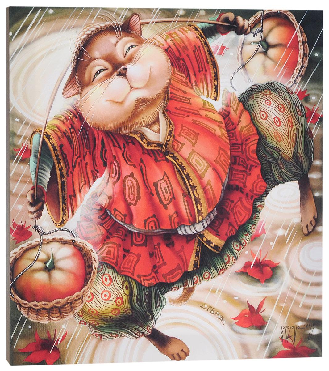 КвикДекор Картина детская ВесыES-412Картина КвикДекор Весы - это прекрасное украшение для вашей гостиной, детской или спальни. Она привнесет в интерьер яркий акцент и сделает обстановку комфортной и уютной.Автор картины - Надежда Соколова - родилась в 1973 году в городе Дрездене. В 1986-1990 годах училась в Художественной школе города Новгорода. В 1995 году окончила с отличием рекламное отделение Новгородского училища культуры. В 2000 году защитила диплом на факультете Искусств и Технологий НовГУ имени Ярослава Мудрого. Выставляется с 1996 года. Работает в техниках: живопись, графика, батик, лаковая миниатюра, авторская кукла. Является автором оригинального стиля в миниатюре.Изделие представляет собой картину с латексной печатью на натуральном хлопчатобумажном холсте. Галерейная натяжка на деревянный подрамник выполнена очень аккуратно, а боковые части картины запечатаны тоновой заливкой. Обратная сторона подрамника содержит отверстие, благодаря которому картину можно легко закрепить на стене и подкорректировать ее положение.Картина Весы - это отличный подарок и эффектное интерьерное украшение.