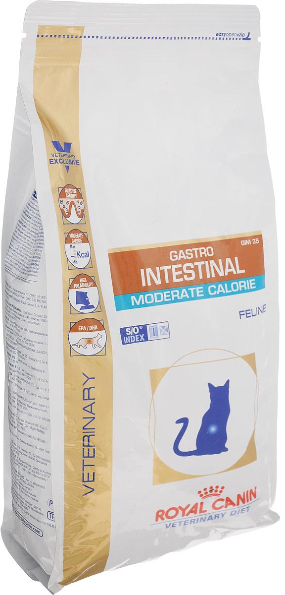 Корм сухой диетический Royal Canin Gastro Intestinal. Moderate Calorie для кошек c пониженным содержанием жира при воспалении кишечника и нарушении пищеварения, 2 кг0120710Сухой диетический корм Royal Canin Gastro Intestinal. Moderate Calorie для кошек c пониженным содержанием жира при воспалении кишечника и нарушении пищеварения. Показания: - Острая и хроническая диарея;- Хроническое воспаление кишечника;- Плохая переваримость и абсорбция питательных веществ;- Пролиферация бактерий в тонком кишечнике;- Колит;- Гастрит;- Панкреатит;- Экссудативная энтеропатия;Противопоказания:Беременность, лактация, рост.Длительность курса применения:Для усиления регенераторной способности ворсинчатого эпителия стенки кишечника при остром воспалительном процессе рекомендуется диетотерапия с минимальным сроком три недели. При хронических заболеваниях может потребоваться назначение диетического корма на протяжении всей жизни животного. Для оптимальной работы пищеварительной системы необходимо соблюдение суточного рациона и увеличение его кратности.Диетологическое лечение ХПН: Формула продуктов специально разработана для поддержания почечной функции при ХПН. Продукты отличаются низким содержанием фосфора, содержат комплекс антиоксидантов, жирные кислоты ЕРА и DHA. При ХПН почки теряют способность надлежащим образом выводить фосфор. Низкое содержание фосфора в продукте способствует замедлению развития болезни. При кормлении диетическим кормом с адаптированным содержанием рыбьего жира (источника незаменимых жирных кислот ЕРА и DHA) повышается скорость клубочковой фильтрации. Снижение нагрузки на почки:Чрезмерная нагрузка на почки может спровоцировать уремический криз. Высокое качество и адаптированное содержание белков способствуют снижению нагрузки на почки. Если содержание белка в рационе значительно превышает минимальные потребности, при сниженной экскреторной функции почек продукты распада азота накапливаются в биологических жидкостях.Высокая калорийность: Недостаточное потребление к