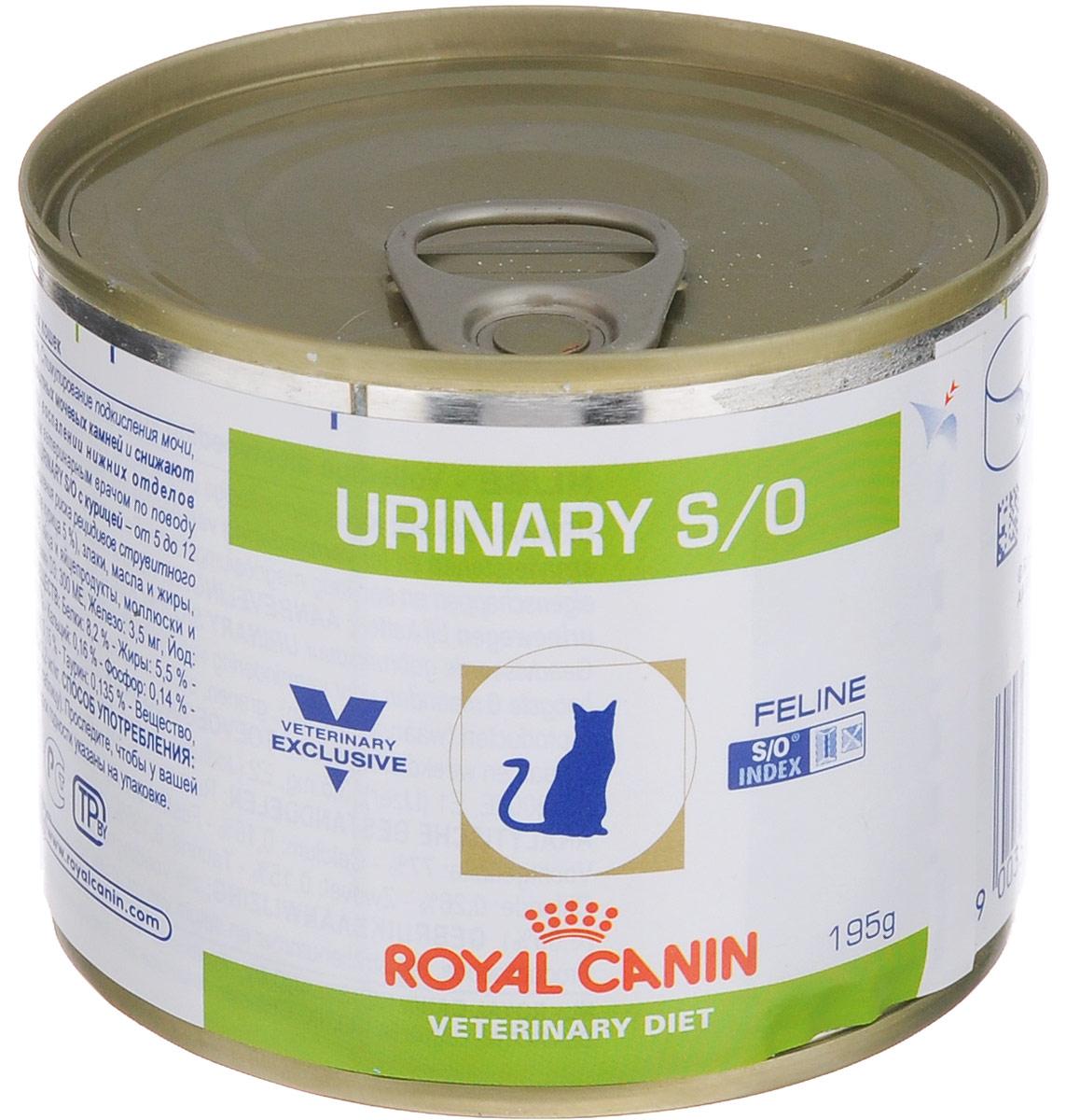 Консервы Royal Canin Urinary Feline S/O для кошек, при заболеваниях мочекаменной болезнью, 195 г54638Консервы Royal Canin Urinary Feline S/O предназначены для кошек с заболеваниями нижних мочевыводящих путей. Показания: - Растворение струвитов; - Профилактика рецидивов уролитиаза, вызываемого струвитами и оксалатами кальция. Примечание: - При повторяющемся идиопатическом цистите рекомендуется влажный диетический корм Urinary S/O Feline; - Перед назначением пожилым животным корма Urinary S/O Feline необходимо убедиться в нормальном функционировании их почек. Противопоказания: - Беременность, лактация, рост; - Хроническая почечная недостаточность; - Метаболический ацидоз; - Сердечная недостаточность; - Гипертония; - Применение лекарственных препаратов, которые используются для подкисления мочи. Длительность курса применения: Струвитные камни растворяются при применении специальной диеты в течение 5-12 недель. Для предупреждения рецидивов уролитиаза курс лечения следует...