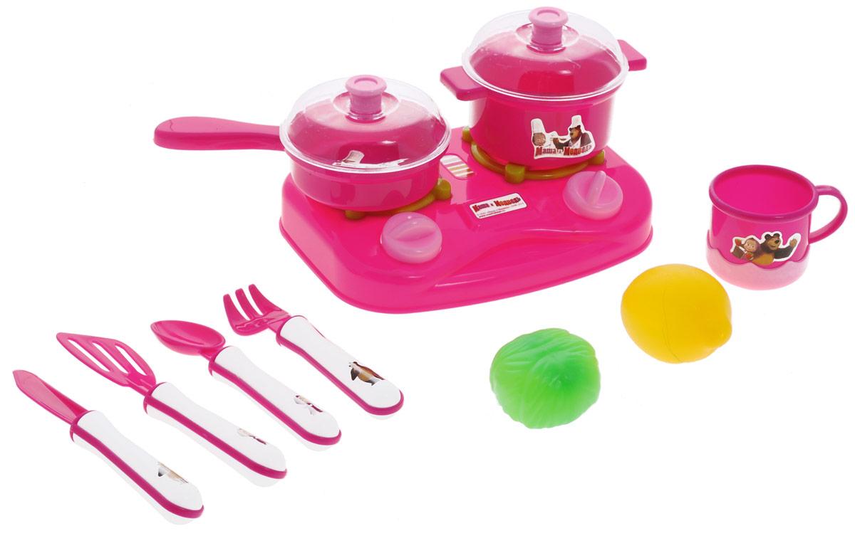 Играем вместе Набор посуды Маша и Медведь 10 предметов набор детской посуды маша и медведь лето 3 предмета