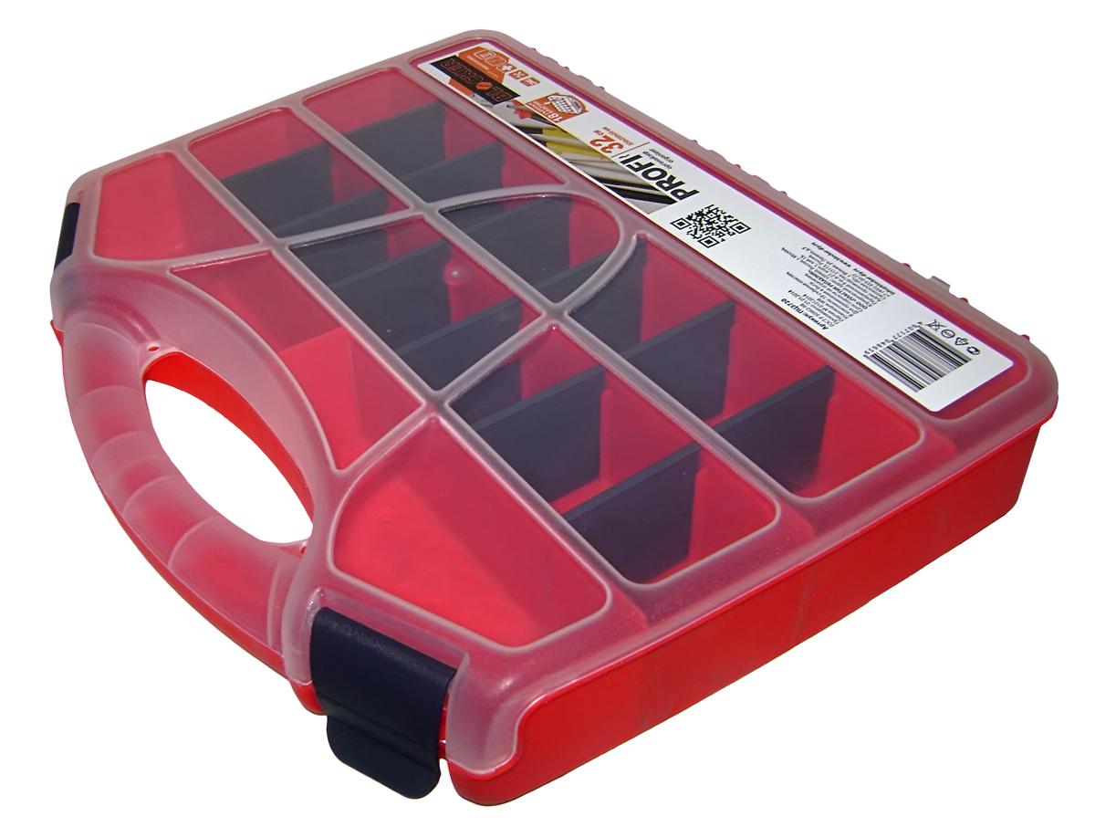 Органайзер для инструментов Blocker Profi, цвет: красный, 32 х 26 х 5,5 смBR3720КРУдобный органайзер Blocker Profi предназначен для переноски и хранения инструментов. Изделие выполнено из высококачественного полипропилена. Прозрачная крышка, небольшой размер и продуманная эргономика делают хранение любых мелочей простым и эффективным. Надежные замки предохраняют от случайного открытия. Съемные разделители позволяют организовать пространство в соответствии с вашими пожеланиями.