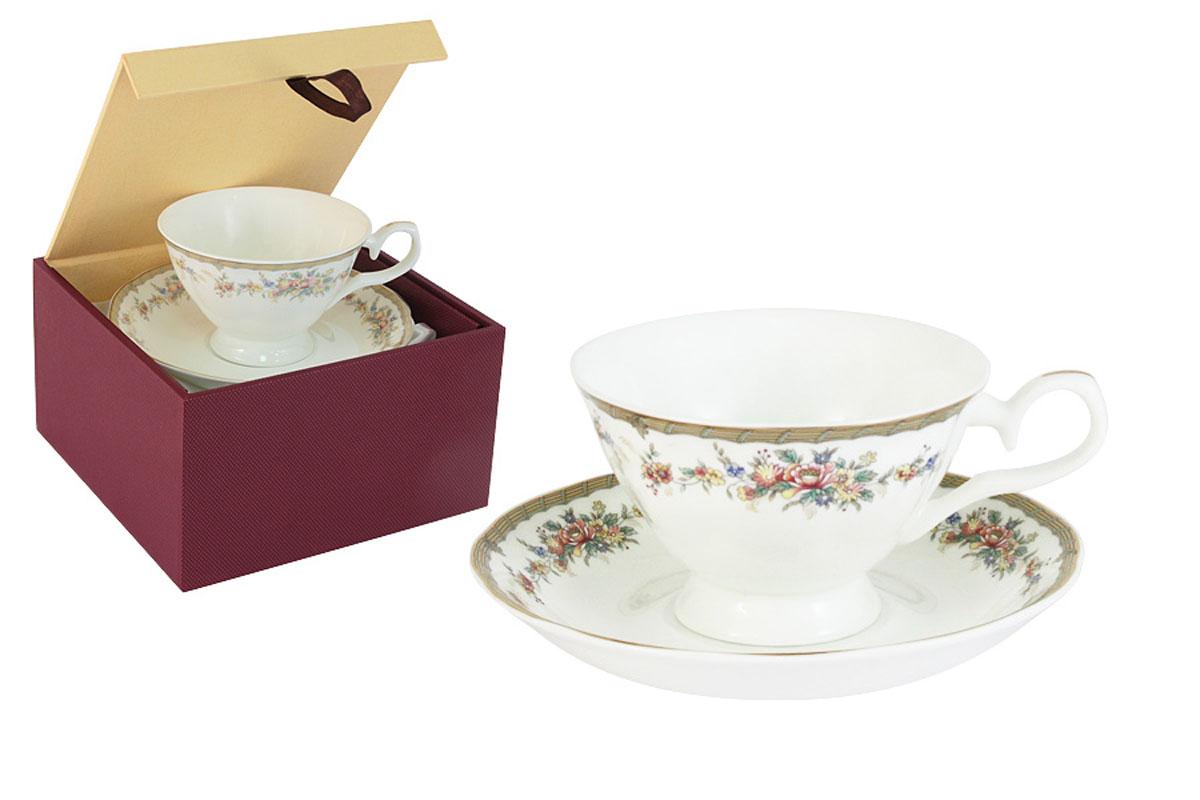 Чайная пара Emerald Изабелла, 2 предметаE5-15-606/CS-ALЧайная пара Emerald Изабелла состоит из чашки и блюдца, изготовленных из высококачественного костяного фарфора. Яркий дизайн изделий, несомненно, придется вам по вкусу. Чайная пара Emerald Изабелла украсит ваш кухонный стол, а также станет замечательным подарком к любому празднику. Объем чашки: 200 мл.