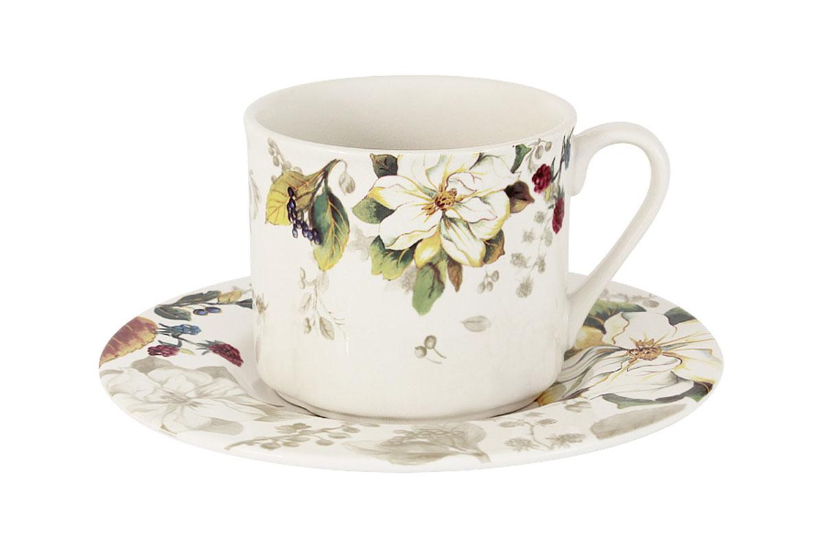 Чайная пара Imari Магнолия, 2 предметаIM15018E-A2119ALЧайная пара Imari Магнолия состоит из чашки и блюдца, изготовленных из высококачественной глазурованной керамики. Яркий дизайн изделий, несомненно, придется вам по вкусу. Чайная пара Imari Магнолия украсит ваш кухонный стол, а также станет замечательным подарком к любому празднику. Изделие можно мыть в посудомоечной машине. Объем чашки: 200 мл.
