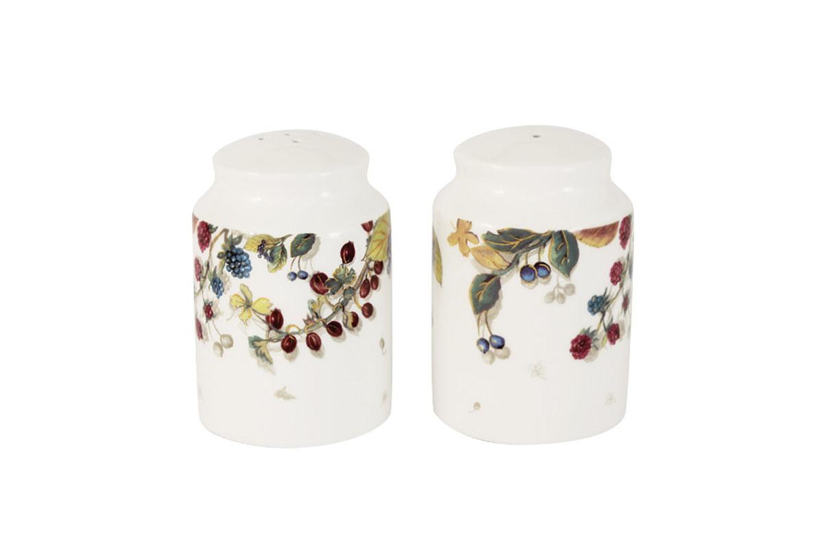 Набор для специй Imari Магнолия, 2 предметаIM55049-A2119ALНабор для специй Imari Магнолия, изготовленный из высококачественной керамики белого цвета, состоит из солонки и перечницы. Емкости оформлены изображением цветов. Солонка и перечница легки в использовании: стоит только перевернуть емкости, и вы с легкостью сможете поперчить или добавить соль по вкусу в любое блюдо. Такой набор для специй украсит стол и послужит отличным подарком для ваших друзей. Можно мыть в посудомоечной машине.