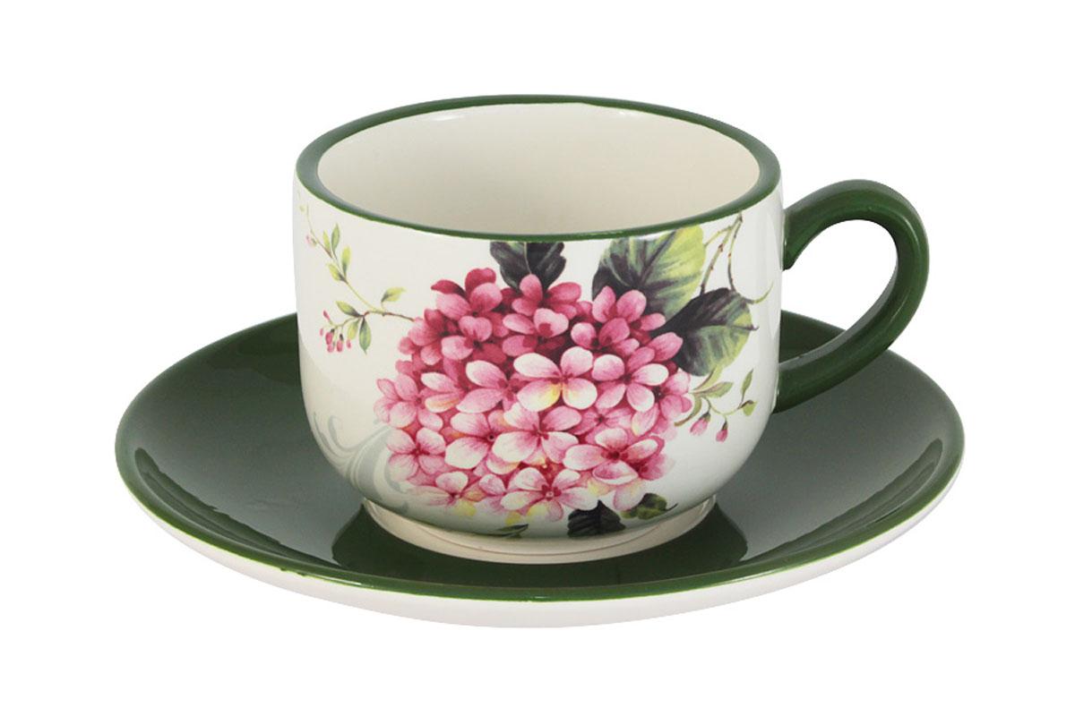 """Чашка с блюдцем Infinity """"Цветы и птицы"""" INFEX-C005-FB-AL"""