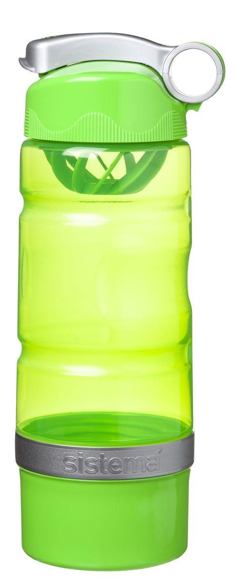 Бутылка питьевая Sistema, спортивная, цвет: салатовый, 615 мл535_салатовыйБутылка для воды Sistema изготовлена из прочного пищевого пластика без содержания фенола и других вредных примесей. Бутылка оснащена специальной крышкой, которая предотвращает проливание жидкости и позволяет удобно пить напитки. С такой бутылкой Вы сможете где угодно насладиться Вашими любимыми напитками. Специальное кольцо позволяет присоединить ее на рюкзак.