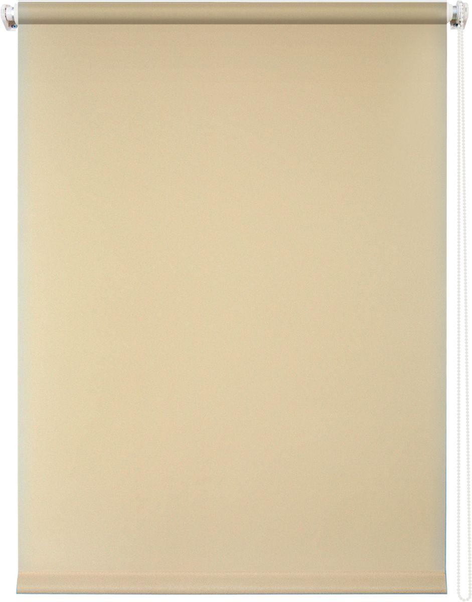 Штора рулонная Уют Плайн, цвет: бежевый, 140 х 175 см19201Штора рулонная Уют Плайн выполнена из прочного полиэстера с обработкой специальным составом, отталкивающим пыль. Ткань не выцветает, обладает отличной цветоустойчивостью и светонепроницаемостью.Штора закрывает не весь оконный проем, а непосредственно само стекло и может фиксироваться в любом положении. Она быстро убирается и надежно защищает от посторонних взглядов. Компактность помогает сэкономить пространство. Универсальная конструкция позволяет крепить штору на раму без сверления, также можно монтировать на стену, потолок, створки, в проем, ниши, на деревянные или пластиковые рамы. В комплект входят регулируемые установочные кронштейны и набор для боковой фиксации шторы. Возможна установка с управлением цепочкой как справа, так и слева. Изделие при желании можно самостоятельно уменьшить. Такая штора станет прекрасным элементом декора окна и гармонично впишется в интерьер любого помещения.