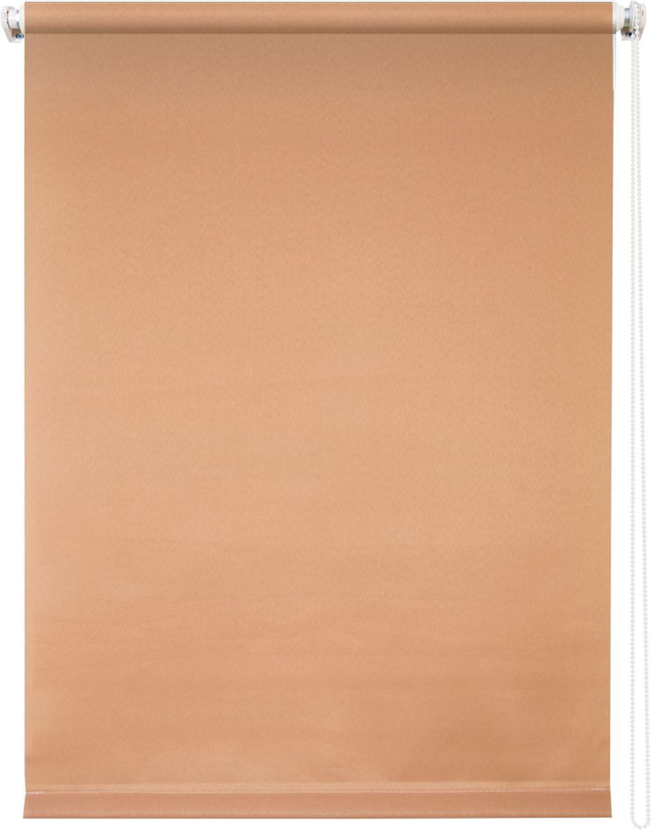 Штора рулонная Уют Плайн, цвет: кофейный, 100 х 175 см19201Штора рулонная Уют Плайн выполнена из прочного полиэстера с обработкой специальным составом, отталкивающим пыль. Ткань не выцветает, обладает отличной цветоустойчивостью и светонепроницаемостью.Штора закрывает не весь оконный проем, а непосредственно само стекло и может фиксироваться в любом положении. Она быстро убирается и надежно защищает от посторонних взглядов. Компактность помогает сэкономить пространство. Универсальная конструкция позволяет крепить штору на раму без сверления, также можно монтировать на стену, потолок, створки, в проем, ниши, на деревянные или пластиковые рамы. В комплект входят регулируемые установочные кронштейны и набор для боковой фиксации шторы. Возможна установка с управлением цепочкой как справа, так и слева. Изделие при желании можно самостоятельно уменьшить. Такая штора станет прекрасным элементом декора окна и гармонично впишется в интерьер любого помещения.
