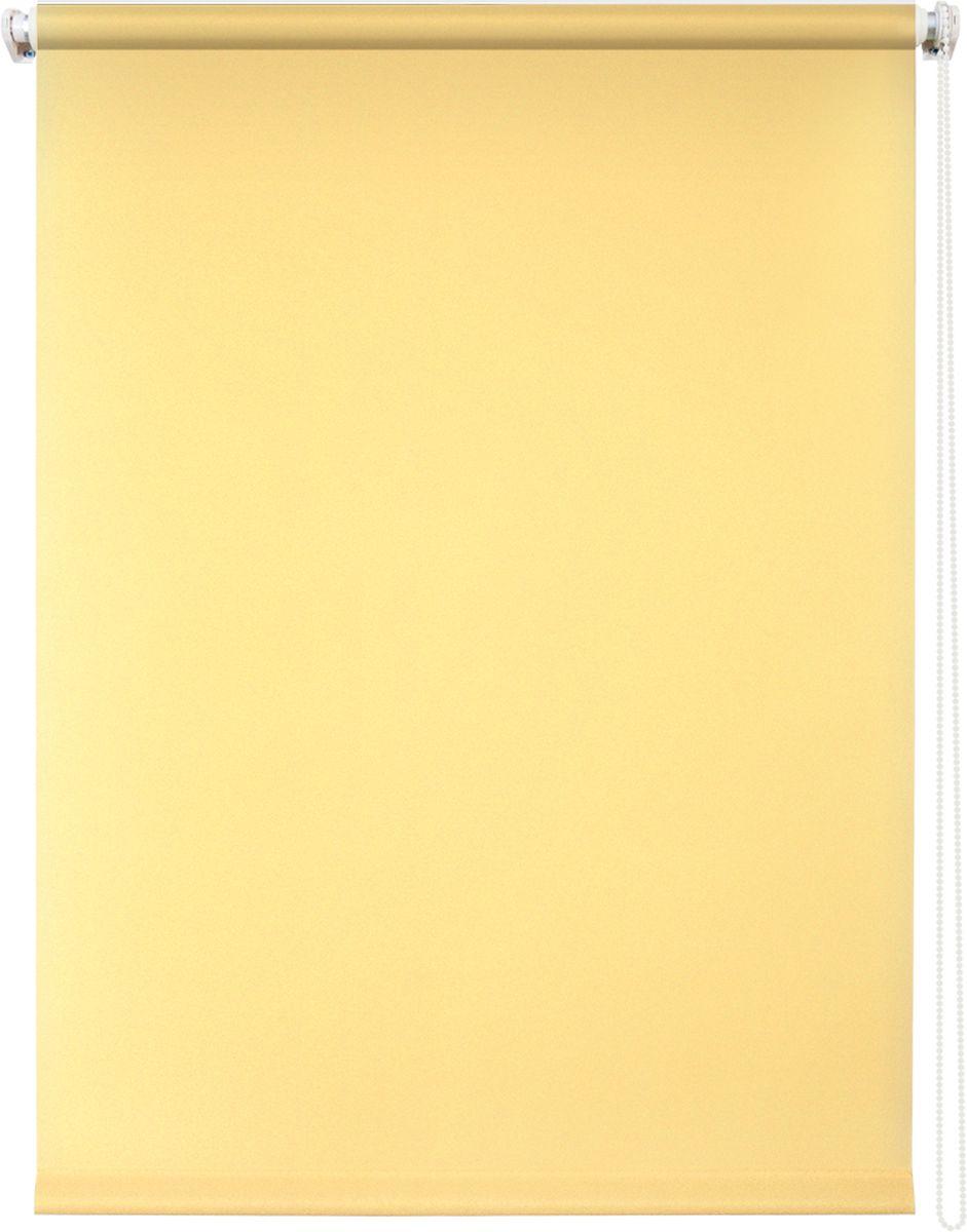 Штора рулонная Уют Плайн, цвет: светло-желтый, 70 х 175 см790009Штора рулонная Уют Плайн выполнена из прочного полиэстера с обработкой специальным составом, отталкивающим пыль. Ткань не выцветает, обладает отличной цветоустойчивостью и светонепроницаемостью.Штора закрывает не весь оконный проем, а непосредственно само стекло и может фиксироваться в любом положении. Она быстро убирается и надежно защищает от посторонних взглядов. Компактность помогает сэкономить пространство. Универсальная конструкция позволяет крепить штору на раму без сверления, также можно монтировать на стену, потолок, створки, в проем, ниши, на деревянные или пластиковые рамы. В комплект входят регулируемые установочные кронштейны и набор для боковой фиксации шторы. Возможна установка с управлением цепочкой как справа, так и слева. Изделие при желании можно самостоятельно уменьшить. Такая штора станет прекрасным элементом декора окна и гармонично впишется в интерьер любого помещения.