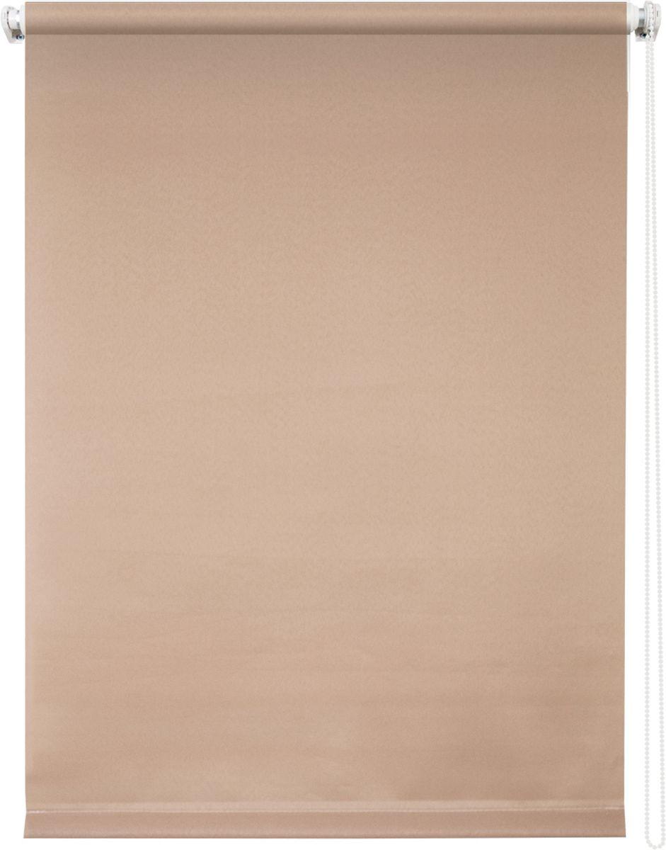 Штора рулонная Уют Плайн, цвет: какао, 50 х 175 см62.РШТО.7520.050х175Штора рулонная Уют Плайн выполнена из прочного полиэстера с обработкой специальным составом, отталкивающим пыль. Ткань не выцветает, обладает отличной цветоустойчивостью и светонепроницаемостью. Штора закрывает не весь оконный проем, а непосредственно само стекло и может фиксироваться в любом положении. Она быстро убирается и надежно защищает от посторонних взглядов. Компактность помогает сэкономить пространство. Универсальная конструкция позволяет крепить штору на раму без сверления, также можно монтировать на стену, потолок, створки, в проем, ниши, на деревянные или пластиковые рамы. В комплект входят регулируемые установочные кронштейны и набор для боковой фиксации шторы. Возможна установка с управлением цепочкой как справа, так и слева. Изделие при желании можно самостоятельно уменьшить. Такая штора станет прекрасным элементом декора окна и гармонично впишется в интерьер любого помещения.