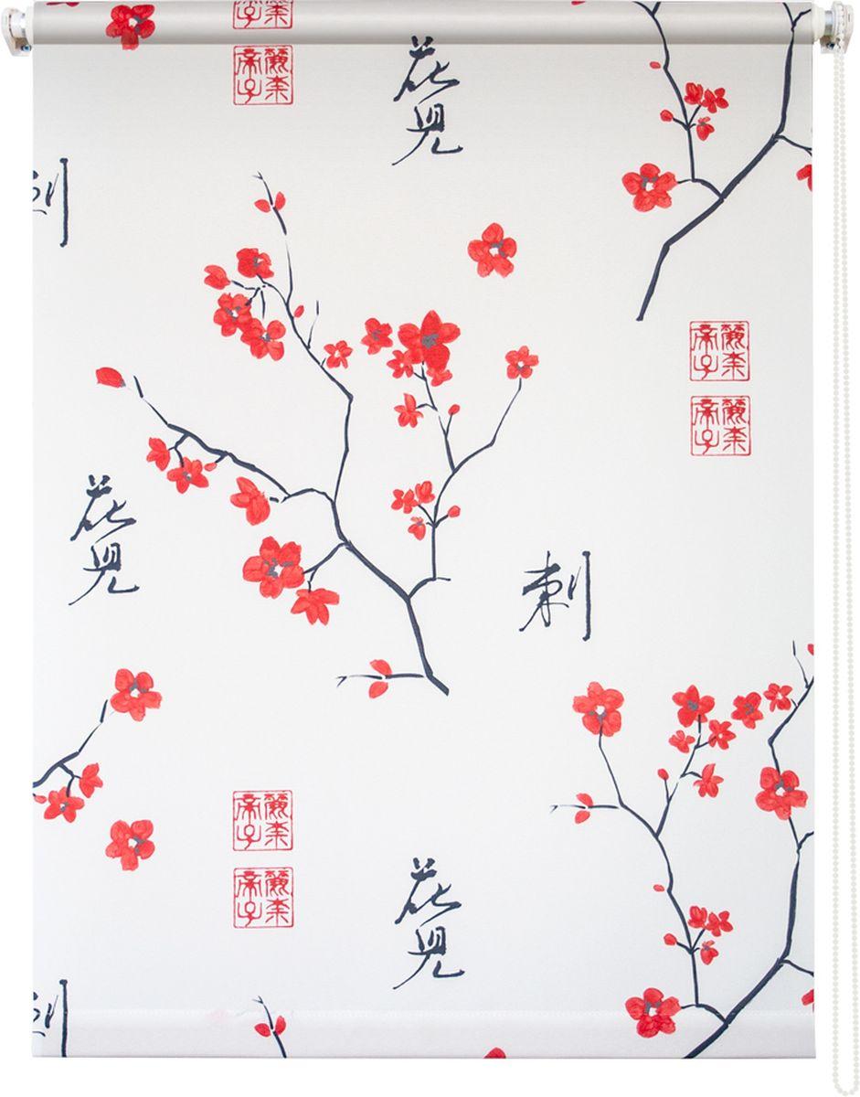 Штора рулонная Уют Япония, цвет: белый, красный, черный, 50 х 175 см10503Штора рулонная Уют Япония выполнена из прочного полиэстера с обработкой специальным составом, отталкивающим пыль. Ткань не выцветает, обладает отличной цветоустойчивостью и светонепроницаемостью.Штора закрывает не весь оконный проем, а непосредственно само стекло и может фиксироваться в любом положении. Она быстро убирается и надежно защищает от посторонних взглядов. Компактность помогает сэкономить пространство. Универсальная конструкция позволяет крепить штору на раму без сверления, также можно монтировать на стену, потолок, створки, в проем, ниши, на деревянные или пластиковые рамы. В комплект входят регулируемые установочные кронштейны и набор для боковой фиксации шторы. Возможна установка с управлением цепочкой как справа, так и слева. Изделие при желании можно самостоятельно уменьшить. Такая штора станет прекрасным элементом декора окна и гармонично впишется в интерьер любого помещения.