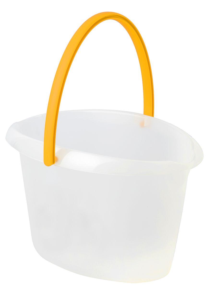 Ведро для уборки Apex, овальное, цвет: прозрачный, желтый, 12 л10380-A_желтый