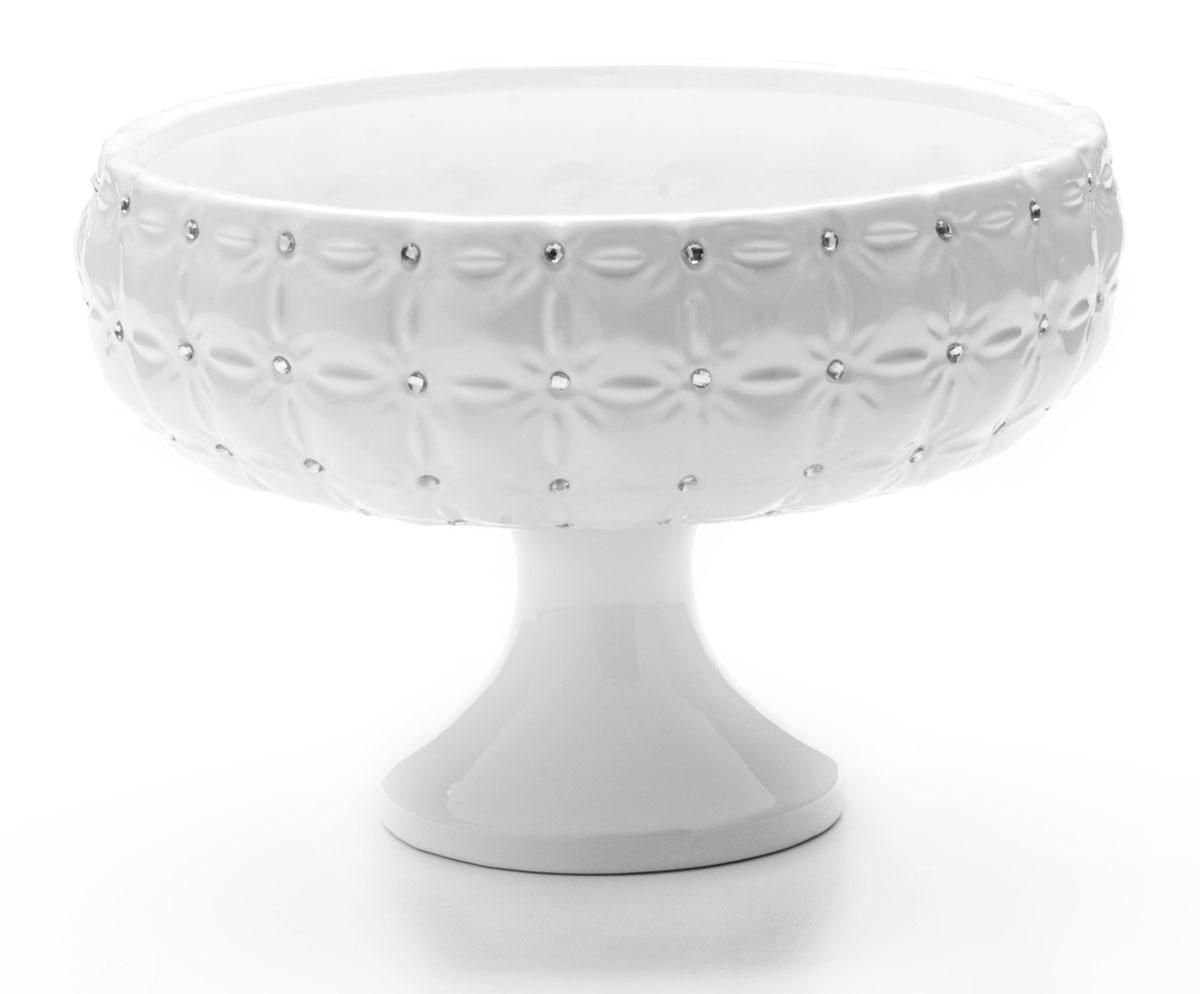 Конфетница Mayer & Boch Ажур, 23 х 23 х 16 см23835Конфетница ажур стразы, украшенная оригинальным ажурным узором, удачно украсит ваш интерьер. Стильная форма и интересное исполнение идеально впишутся в любой стиль, а универсальный белый цвет подойдет к любой мебели. Такая конфетница принесет новизну в вашу кухню и прияно порадует глаз.