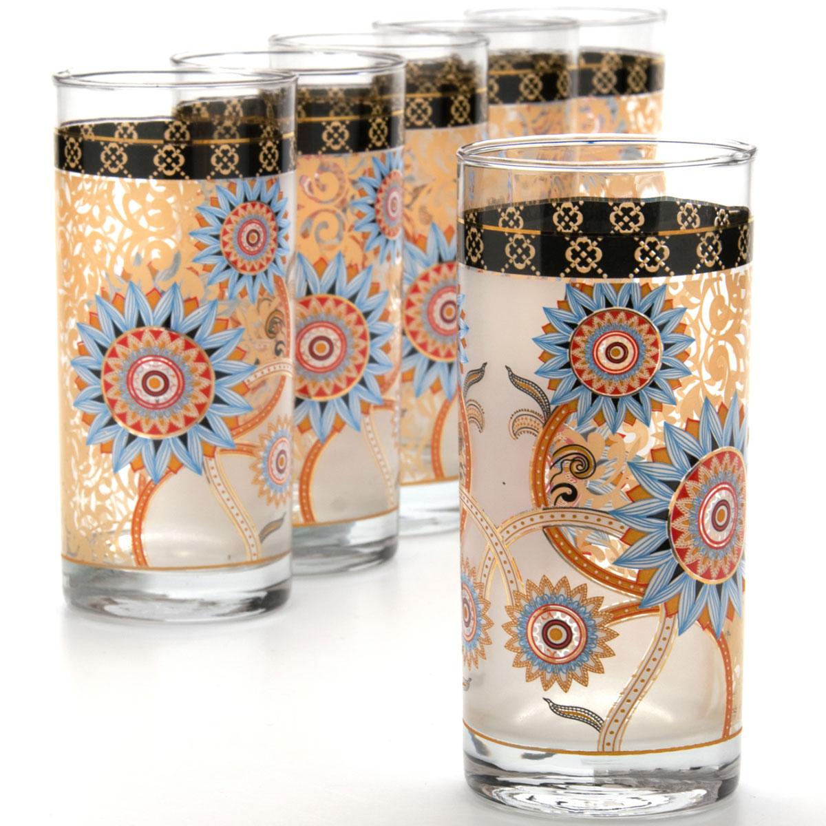 Набор стаканов Mayer & Boch, 370 мл, 6 шт. 2407724077Набор, состоящий из шести стаканов, несомненно, придется вам по душе. Стаканы выполнены из высококачественного стекла в мягких тонах с оригинальным узором. Благодаря такому набору пить напитки будет еще вкуснее. Набор стаканов Loraine станет также отличным подарком на любой праздник. Подходит для горячих и холодных напитков