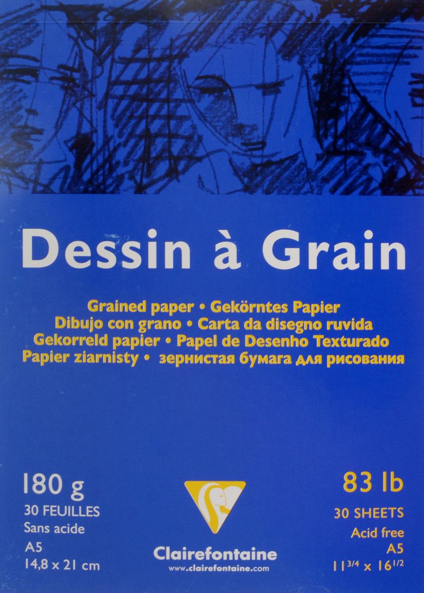 Блокнот для черчения и рисования Clairefontaine Dessin A Grain, 30 листов, формат А5. 9662660120Бескислотная бумага Clairefontaine Dessin A Grain,изготовленная из 100% целлюлозы, предназначена для сухихтехник рисования и черчения карандашом, углем, палочкамисангина и другими. Также может быть использована дляакрила и гуаши, благодаря высокой плотности. Изделияимеют зернистую фактуру. Обложка выполнена измелованного картона с клеевым креплением. Рисование позволяет развивать творческие способности,кроме того, это увлекательный досуг.Размер листа: 14,8 х 21 см.