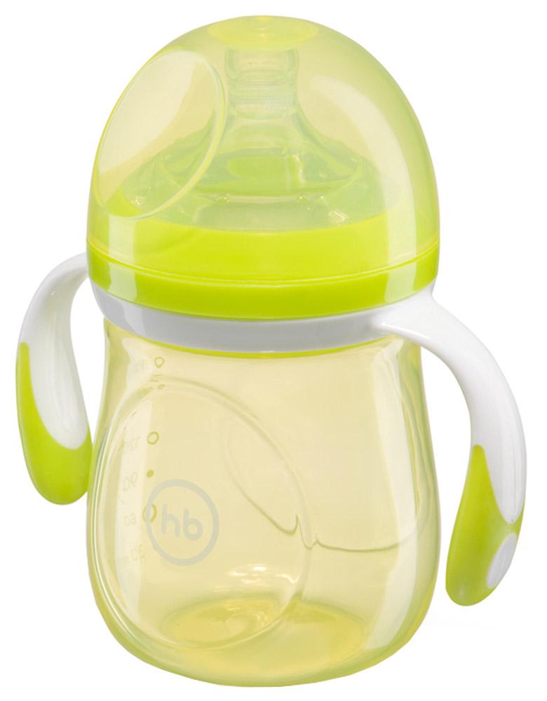 Happy Baby Бутылочка для кормления с антиколиковой силиконовой соской от 0 месяцев цвет салатовый 180 мл 10011_салатовый