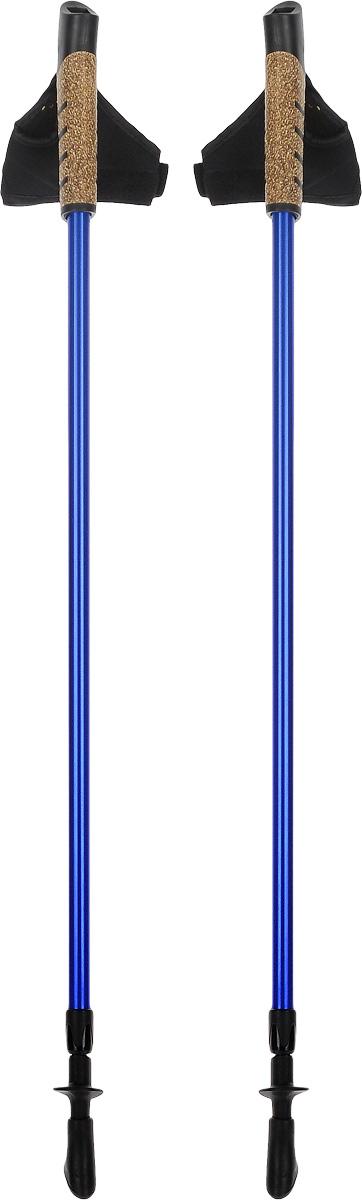 Палки для скандинавской ходьбы, телескопические, длина 80-135 см, 2 шт. FT138FT138Телескопические палки для скандинавской ходьбы с системой секционной блокировки, разработанной по цанговому принципу. Подходят как для продвинутых спортсменов, так и для начинающих. Рукоять снабжена эргономичным регулируемым темляком. При весе всего в 220 г используется легкий, упругий и самый прочный металл. Палки состоят из 2 секций. В нижней секции расположена метрическая разметка для быстрой и точной регулировки длины под рост. Съемный наконечник из полимерного материала, для высокого сцепления. Используются только не токсичные краски. Под наконечником расположен шип. Технологии: Метал. Идеально отполированные детали. 80-135 - шаблон моделирования высоты, универсальный рост. Эргономичный темляк для скандинавской ходьбы. Надежная и удобная система секционной блокировки, основанная на цанговом принципе. Пластиковые детали от ведущего производителя. Комплектация: Палки телескопические для...