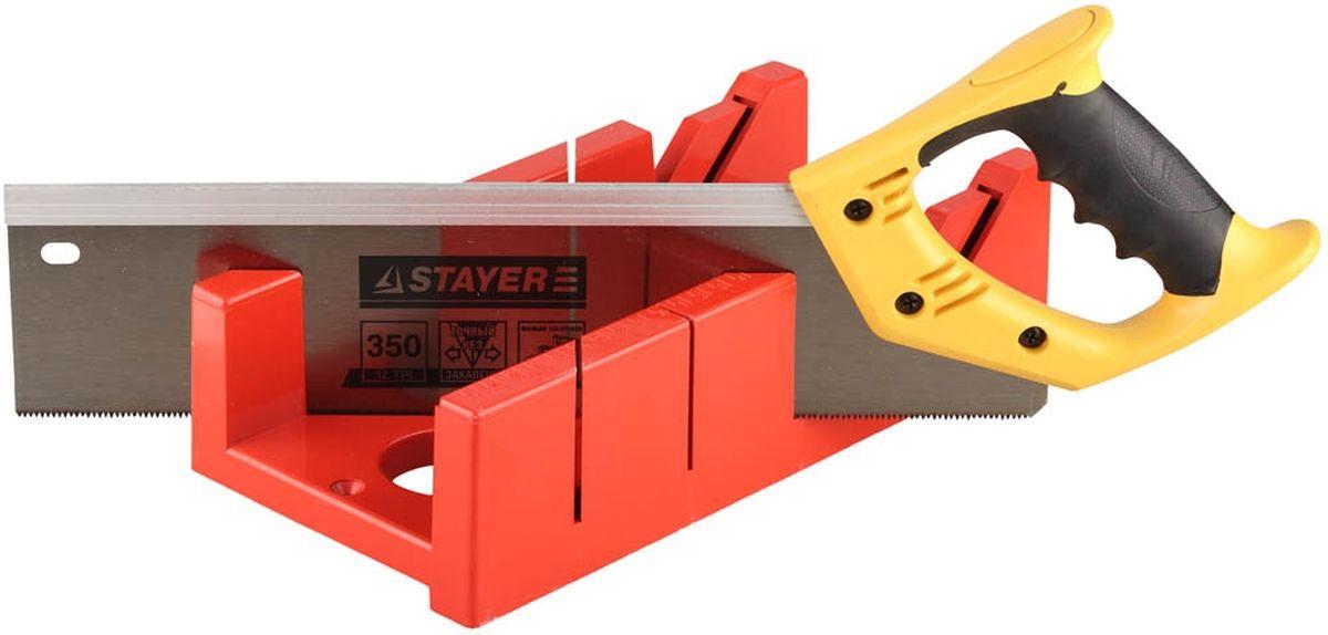 Набор Stayer Master пластмассовый, ножовка, стусло Maxi 4 для заготовок 100 мм х 52 мм15395-35