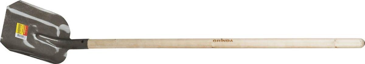 Лопата совковая Grinda, с черенком, длина 142 см421825Совковая лопата Grinda предназначена для садово-огородных и строительных работ. Полотно лопаты имеет форму прямоугольника с закраинами и изготовлено по уникальной технологии из высококачественной углеродистой стали, покрыто порошковой краской. Изделие оснащено березовым черенком. Размеры лопаты: 28 х 23 х 142 см.