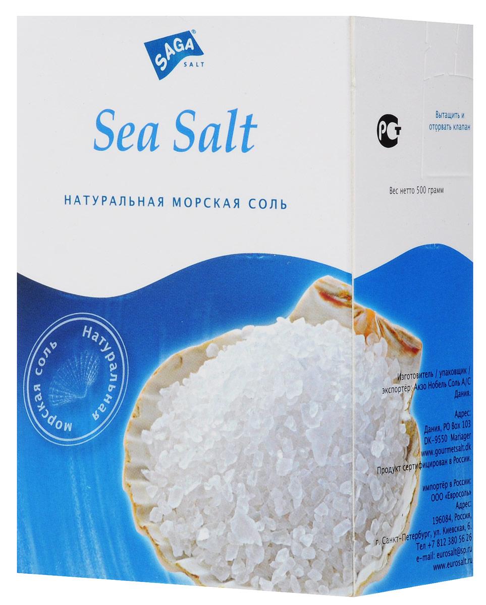 Зимушка-краса Saga соль морская, 500 г0120710Морская соль Saga содержит минералы и микроэлементы, которые являются ее естественными компонентами. Она отлично подходит для приготовления рыбных блюд, устриц, креветок и моллюсков.