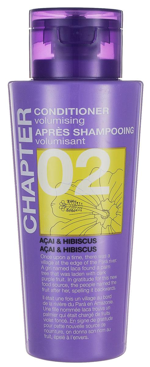 Chapter Кондиционер для волос Chapter с ароматом ягод асаи и гибискуса, 400 мл769685Кондиционер с ароматом ягод асаи и гибискуса, придающий объем, имеет нежную и легкую текстуру, которая питает и смягчает волосы, восстанавливая здоровый блеск и сияние. Не утяжеляет волосы, помогает расчесать спутанные пряди. Не содержит парабенов, силиконов и красителей.
