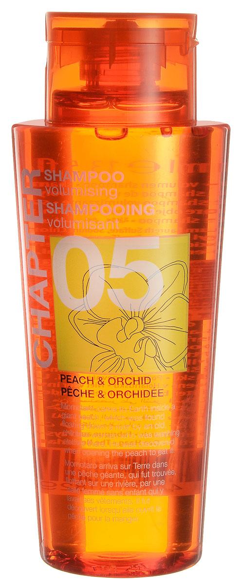 Chapter Шампунь для волос Chapter с ароматом персика и орхидеи, 400 млFS-00103Благодаря специально разработанному составу, шампунь с ароматом персика и орхидеи не утяжеляет волос, придавая мягкость и восстанавливая блеск. Шампунь, придающий объем волосам. Подходит для всех типов волос, в том числе и для окрашенных. Не содержит парабенов, силиконов и красителей.