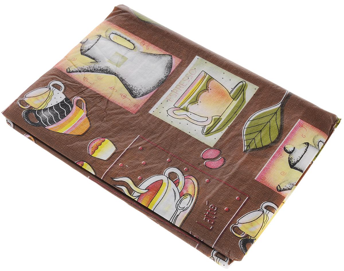 Скатерть Дом и все, что в нем Кофе, 137 х 183 смVT-1520(SR)Скатерть Дом и все, что в нем Кофе изготовлена из качественного водонепроницаемого полимерного материала и украшена изображениями чашек. Изделие органично впишется в интерьер любого помещения, а оригинальный мотив удовлетворит даже самый изысканный вкус.В современном мире кухня - это не просто помещение для приготовления и приема пищи; это особое место, где собирается вся семья и царит душевная атмосфера. Кухня - душа вашего дома, поэтому важно создать в ней атмосферу уюта.