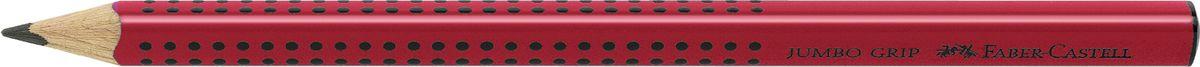 Faber-Castell Карандаш чернографитный Jumbo Grip цвет корпуса красный72523WDFaber-Castell Jumbo Grip - чернографитный карандаш эргономичной трехгранной формы с утолщенным корпусом. Запатентованная Grip антискользящая зона захвата с малыми массажными шашечками. Мягкий грифель идеален для рисования и тренировки письма. Специальная технология вклеивания (SV) предотвращает поломку грифеля.Корпус покрыт лаком на водной основе – бережным по отношению к окружающей среде и здоровью детей.Качественная древесина – гарантия легкого затачивания при помощи стандартных точилок.