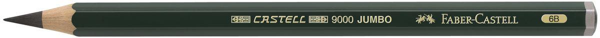 Faber-Castell Карандаш чернографитовый Castell 9000 Jumbo 119306119306Чернографитовый карандаш Faber-Castell Castell 9000 Jumbo предназначен не только для письма, но и для эскизов и рисования. Специальная SV технология вклеивания грифеля предотвращает его поломку при падении, а высокое качество мягкой древесины обеспечивает легкое затачивание. Такой карандаш с чистым графитом не царапает бумагу, ровно и гладко ложится, хорошо штрихует, передавая воздушность и светотени.