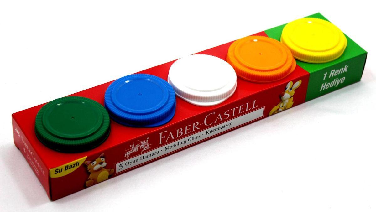 Faber-Castell Пластилин на водной основе в карт коробке 5 шт 225 гр120047Играя необычным пластилином Faber-Castell на водной основе, ребенок сможет проявить фантазию, развивать свои творческие способности, мелкую моторику. Фактура пластилина мягкая, приятная на ощупь. Пластилин не липнет к рукам и не крошится. Качественные материалы абсолютно безопасны для здоровья.