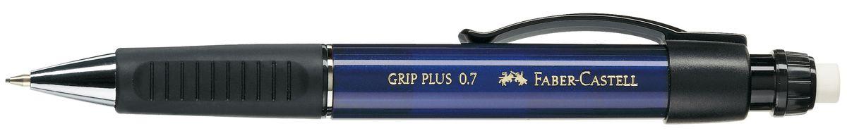 Faber-Castell Карандаш механический Grip Plus цвет корпуса синий 130732610842Механический карандаш Faber-Castell Grip Plus - незаменимый атрибут современного делового человека дома и в офисе.Корпус карандаша круглой формы с металлическим наконечником выполнен из высококачественного пластика. Дополнен корпус удобным пластиковым держателем, трехгранной резиновой областью захвата и толстым выдвижным ластиком. Карандаш оснащен инновационной системой, предотвращающей поломку грифеля.Убирающийся внутрь кончик обеспечивает безопасное ношение карандаша в кармане.Порадуйте друзей и знакомых, оказав им столь стильный знак внимания.