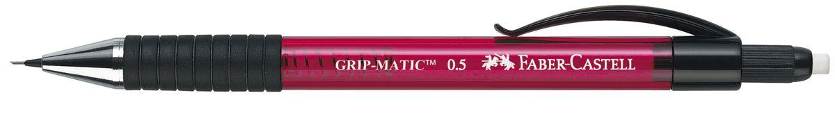 Faber-Castell Карандаш механический Grip-Matic цвет корпуса красный 137521PP-220Механический карандаш Faber-Castell Grip-Matic - незаменимый атрибут современного делового человека дома и в офисе.Корпус карандаша круглой формы выполнен из высококачественного пластика и дополнен резиновой областью захвата и длинным выдвижным ластиком. Карандаш оснащен инновационной системой, позволяющей грифелю выдвигаться в зависимости от письма в оптимальном объеме.Мягкое комфортное письмо и тонкие линии при написании принесут вам максимум удовольствия. Порадуйте друзей и знакомых, оказав им столь стильный знак внимания.