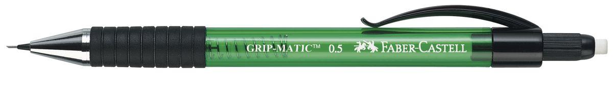 Faber-Castell Карандаш механический Grip-Matic цвет корпуса зеленый 137563137563Механический карандаш Faber-Castell Grip-Matic - незаменимый атрибут современного делового человека дома и в офисе. Корпус карандаша круглой формы выполнен из высококачественного пластика и дополнен резиновой областью захвата и длинным выдвижным ластиком. Карандаш оснащен инновационной системой, позволяющей грифелю выдвигаться в зависимости от письма в оптимальном объеме. Мягкое комфортное письмо и тонкие линии при написании принесут вам максимум удовольствия. Порадуйте друзей и знакомых, оказав им столь стильный знак внимания.