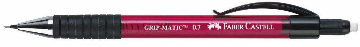 Faber-Castell Карандаш механический Grip-Matic цвет корпуса красный 13772172523WDМеханический карандаш Faber-Castell Grip-Matic - незаменимый атрибут современного делового человека дома и в офисе.Корпус карандаша круглой формы выполнен из высококачественного пластика и дополнен резиновой областью захвата и длинным выдвижным ластиком. Карандаш оснащен инновационной системой, позволяющей грифелю выдвигаться в зависимости от письма в оптимальном объеме.Мягкое комфортное письмо и тонкие линии при написании принесут вам максимум удовольствия. Порадуйте друзей и знакомых, оказав им столь стильный знак внимания.
