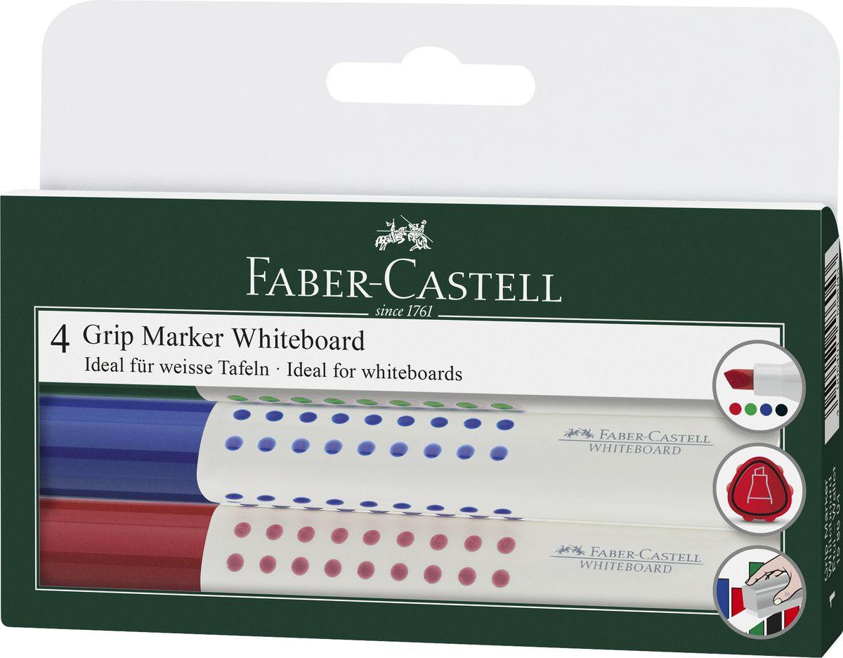 Faber-Castell Маркер для белой доски Grip 4 штFS-36054Набор маркеров для белой доски Faber-Castell включает в себя 4 маркера.Особенности маркеров: эргономичная трехгранная область захвата;идеален для всех видов бумаги;линия маркировки шириной 2-5 мм;4 ярких цвета;простая система повторного наполнениячернилами;контрастные цвета, быстрое высыхание.Такой набор станет незаменимым при проведении презентаций и для работы в офисе.