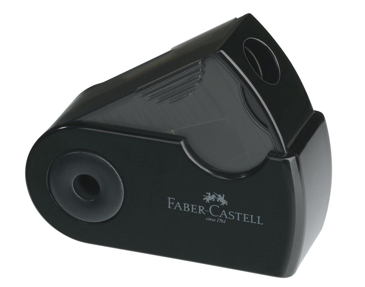 Faber-Castell Мини-точилка Sleeve цвет черный182710Мини-точилка Faber-Castell Sleeve выполнена из прочного пластика и предназначена для затачивания для классических, трехгранных чернографитных и цветных карандашей. В точилке имеется одно отверстие для карандашей классического диаметра. Эргономичная форма контейнера обеспечивает стабильное положение кисти. Карандаш затачивается легко и аккуратно, а опилки после заточки остаются в специальном контейнере повышенной вместимости.