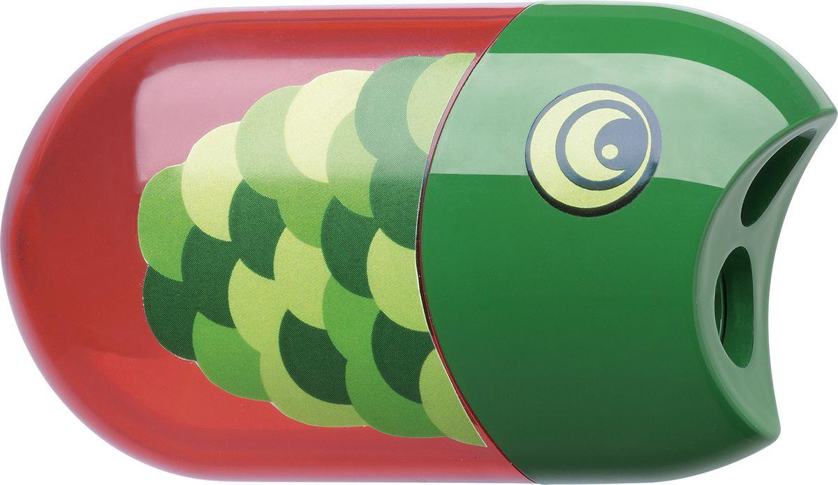 Faber-Castell Точилка с контейнером и ластиком РыбкаFS-54103Точилка с двумя отверстиями Faber-Castell Рыбка - это качественная простая точилка с контейнером для стружек и ластиком.Точилка выполнена в привлекательном дизайне и предназначена для всех типов карандашей.