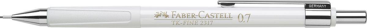 Faber-Castell Карандаш механический TK-Fine цвет корпуса белый 23170172523WDМеханический карандаш Faber-Castell TK-Fine идеален для письма и черчения.Корпус карандаша круглой формы выполнен из высококачественного пластика. Убирающийся внутрь кончик обеспечивает безопасное ношение карандаша в кармане.Отличительная особенность - качественный ластик и 3 запасных грифеля HB.Мягкое комфортное письмо и тонкие линии при написании принесут вам максимум удовольствия. Порадуйте друзей и знакомых, оказав им столь стильный знак внимания.
