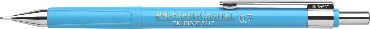 Faber-Castell Карандаш механический TK-Fine цвет корпуса голубой 231752610842Механический карандаш Faber-Castell TK-Fine идеален для письма и черчения.Корпус карандаша круглой формы выполнен из высококачественного пластика. Убирающийся внутрь кончик обеспечивает безопасное ношение карандаша в кармане.Отличительная особенность - качественный ластик и 3 запасных грифеля HB.Мягкое комфортное письмо и тонкие линии при написании принесут вам максимум удовольствия. Порадуйте друзей и знакомых, оказав им столь стильный знак внимания.