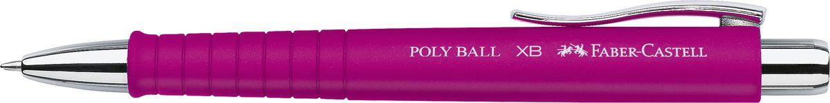 Faber-Castell Ручка шариковая Poly Ball цвет корпуса розовый72523WDШариковая ручка Faber-Castell Poly Ball с эргономичной трехгранной областью захвата станет незаменимым атрибутом учебы или работы. Корпус ручки выполнен из пластика; кончик, выдвижной наконечник и кнопка - из металла. Высококачественные чернила позволяют добиться идеальной плавности письма. Ручка оснащена качественным нажимным механизмом и упругим клипом для удобной фиксации на бумаге или одежде.