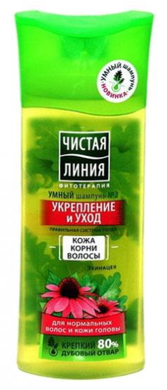 Чистая Линия Шампунь для нормальных волос и кожи головы Укрепление и уход 400 мл