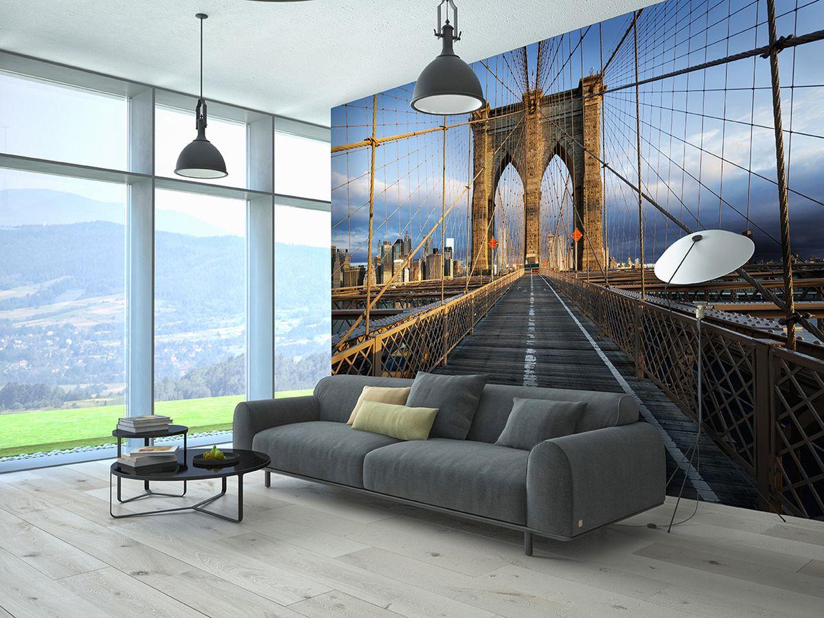 Фотообои PosterMarket Бруклинский мост, размер 368 х 254 смU210DFФотообои PosterMarket представляют собой изображение Бруклинский моста, одного из самых известных символов современного Нью-Йорка, и позволят создать неповторимый облик помещения, в котором они размещены. Фотообои наносятся на стены одним большим полотном. Они не впитывают жир, грязь, чернила, краски и пластилин. Фотообои снова вошли в нашу жизнь, став модным направлением декорирования интерьера. Выбрав правильную фактуру и сюжет изображения можно добиться невероятного эффекта живого присутствия.