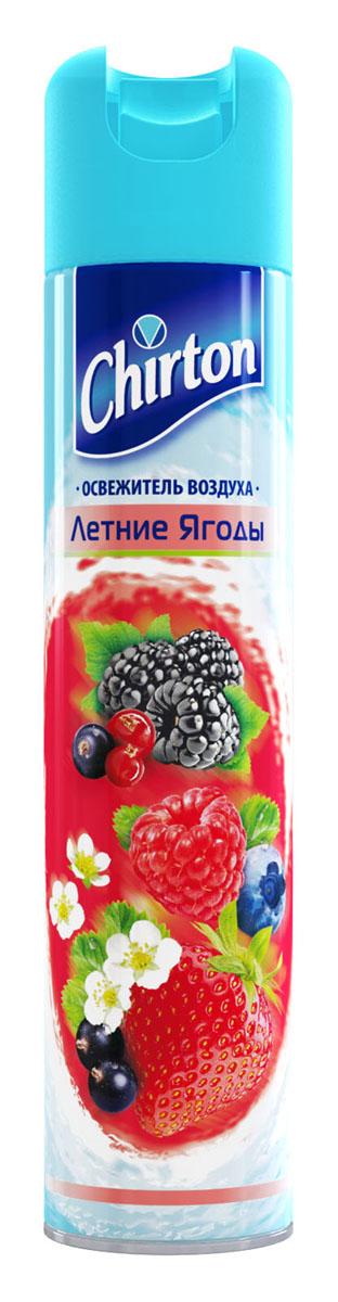 Освежитель воздуха Chirton Летняя ягода, 300 мл80653Освежитель воздуха Chirton позволит быстро избавиться от неприятных запахов в любом уголке вашего дома. Легко устраняет неприятные запахи, надолго наполняя дом неповторимым нежным ароматом. Товар сертифицирован.