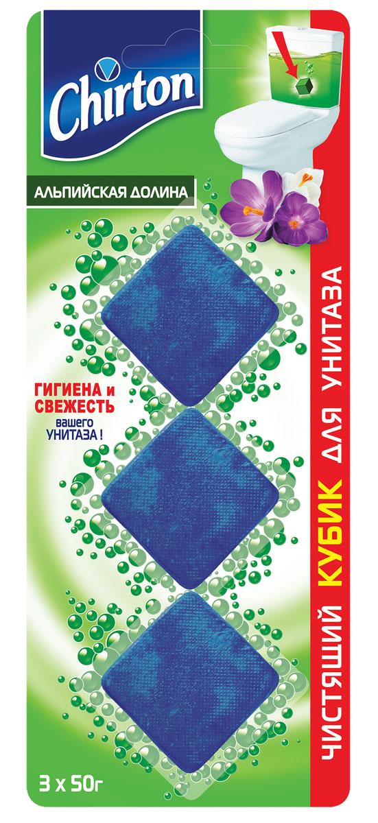 Чистящий кубик для унитаза Chirton Альпийская долина 3*50г49925Без особых хлопот обеспечит гигиеническую чистоту и свежесть вашего туалета в течение длительного времени. Тройного действия. Очищает поверхность унитаза, предотвращая образование известкового налета. Уничтожает бактерии даже в труднодоступных местах. Создает обильную пену и стойкий свежий аромат при каждом сливе воды.