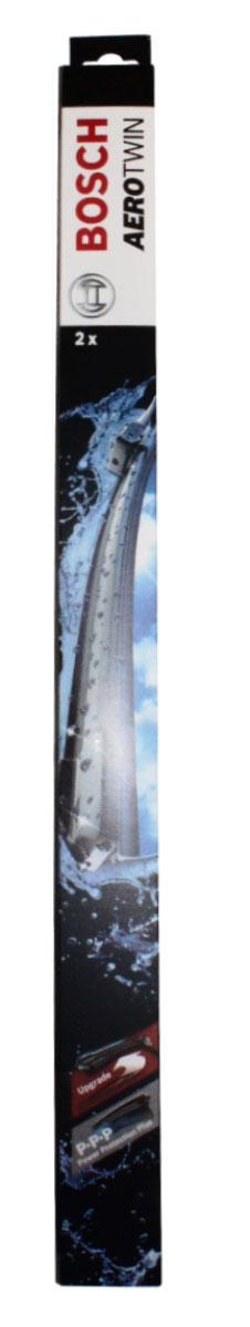 Комплект щеток стеклоочистителя Bosch Aerotwin AR291S 600мм/450мм, бескаркасные, 2 шт3397007995Основное применение: Chevrolet Cruze 2009- ,крепление типа крючок Бескаркасные стеклоочистители с оригинальным креплением. Даже на высоких скоростях можно положиться на Aerotwin: их аэродинамическая конструкция гарантирует лучший обзор – даже в самых притязательных погодных условиях. В оригинальную программу входит Aerotwin с предварительно установленным, характерным для автомобиля оригинальным адаптером – он прост и быстро устанавливается. Высочайшее качество очистки: Прекрасный результат очистки в любой точке стекла благодаря высокотехнологичной пружинной направляющей и аэродинамически оптимизированному профилю. Больше комфорта: Минимальные шумы ветра благодаря меньшей площади воздействия встречного воздуха; Улучшенная пригодность к работе в зимних условиях, потому что лед не примерзает к щетке; Простейшая замена стеклоочистителей благодаря предварительно установленному, характерному для автомобиля оригинальному адаптеру. Усовершенствованная конструкция: Встроенный...
