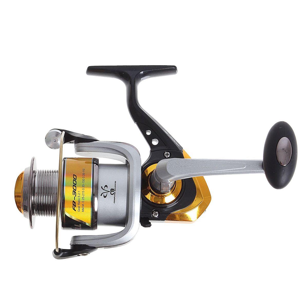Катушка безынерционная Onlitop 1BB FB 3000, цвет: желтый, 1 подшипник1233160Катушка 1BB FB 3000 это универсальная модель «эконом»-класса для разных условий рыбалки, отличный выбор для начинающих рыболовов.