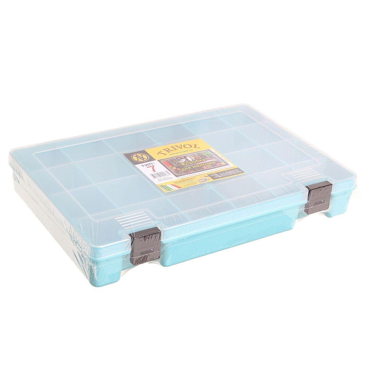 """Trivol / Тривол Коробка для крючков и насадок """"Тривол"""", цвет: голубой, 27,4 х 18,8 х 4,5 см 1349044"""