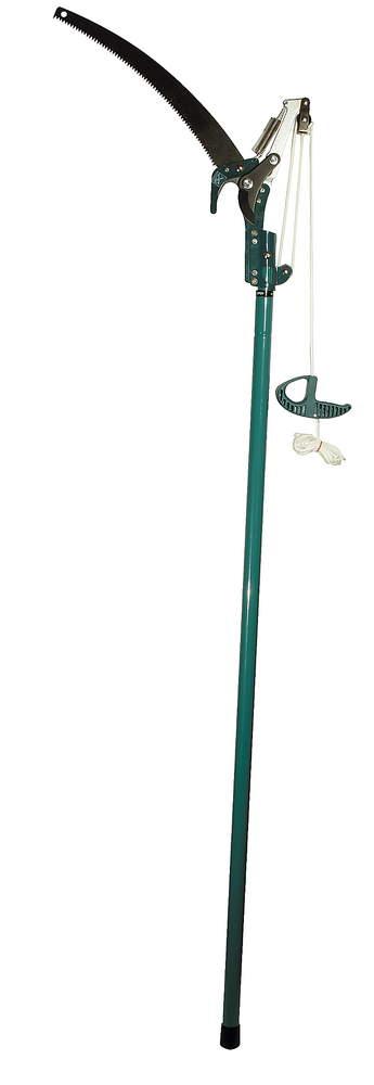 Сучкорез Raco, штанговый, с пилой, с телескопической ручкой, длина 1,5-2,4 м4218-53/371Штанговый сучкорез Raco сконструирован специально для садовых работ. Для удобной работы с кроной деревьев сучкорез можно соединить со штангой, используя специальное прочное крепление. Для выполнения быстрого и качественного реза лезвия сучкореза остро заточены. Полотно изготовлено из качественной высокоуглеродистой стали. Закаленные, заточенные зубья обеспечивают быстрый рез и продолжительный срок службы. Покрытие RACO-Hitekflon обеспечивает защиту от ржавчины, ровный и аккуратный рез. Широкое расхождение лезвий для удобной резки веток толщиной до 30 мм. Прочный стальной корпус, два направляющих блока и ударопрочное основание дают высокую производительность сучкорезу. Крепление к телескопической ручке выполнено.