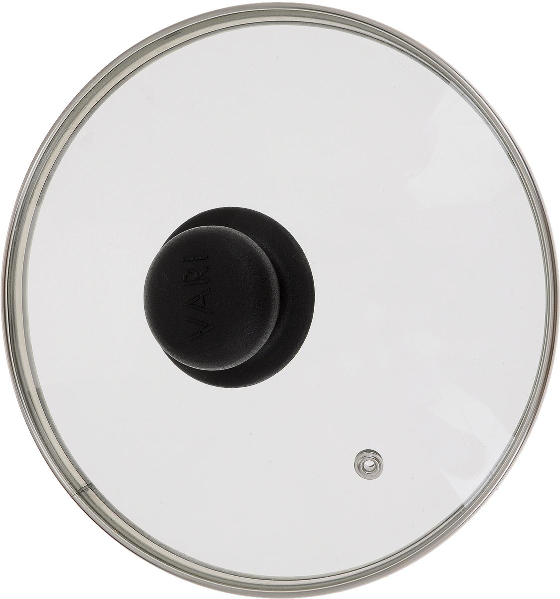 Крышка Vari, диаметр 20 см79200 УПКрышка Vari изготовлена из жаропрочного стекла с ободом из нержавеющей стали и пластиковой ручкой. Она оснащена отверстием для выпуска пара. Окантовка предохраняет от механических повреждений. Изделие удобно в использовании и позволяет контролировать процесс приготовления пищи.